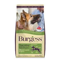 Burgess sensitive dog food