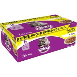 whiskas cat food pouches wet